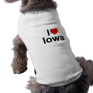 I Love (Heart) Iowa Doggie Tee