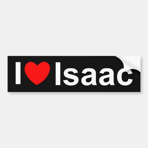 I Love Heart Isaac Car Bumper Sticker Zazzle