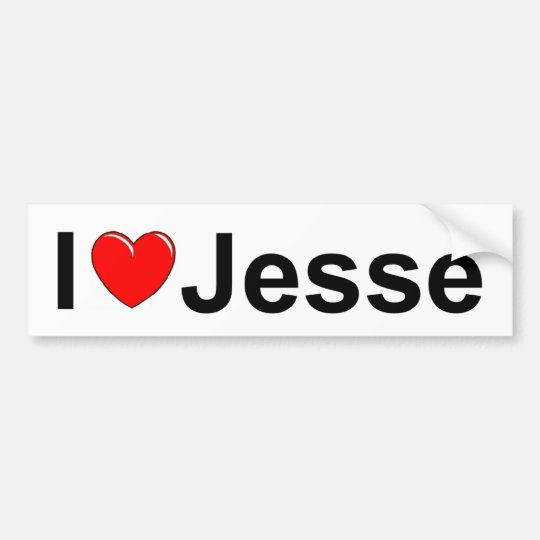 I Love (Heart) Jesse Bumper Sticker