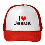 I Love (Heart) Jesus Trucker Hat