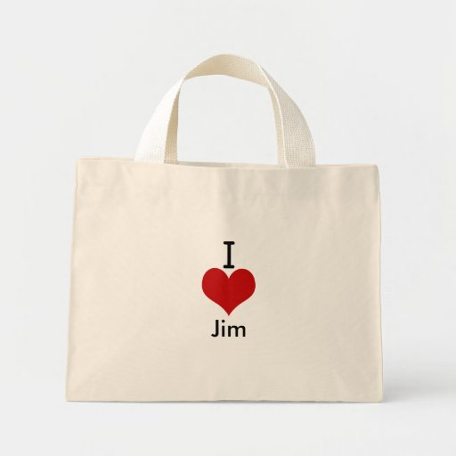 I Love (heart) Jim Bags
