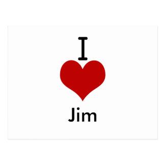 I Love (heart) Jim Postcard