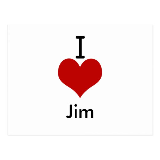 I Love (heart) Jim Postcards