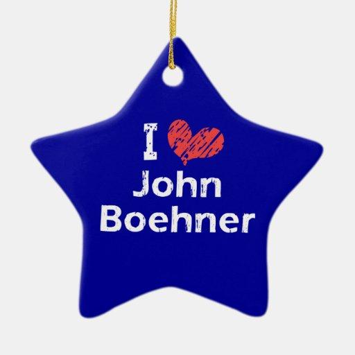 I Love (heart) John Boehner Ornament