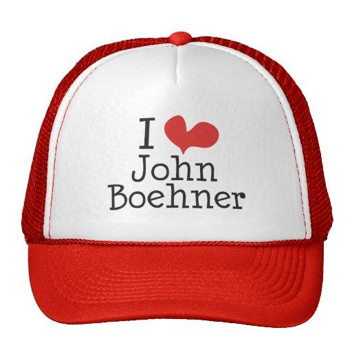 I Love (heart) John Boehner Trucker Hats