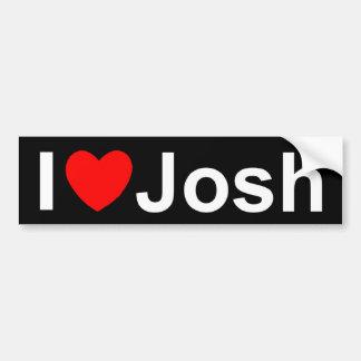 I Love (Heart) Josh Bumper Sticker