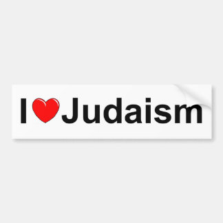 I Love (Heart) Judaism Bumper Sticker