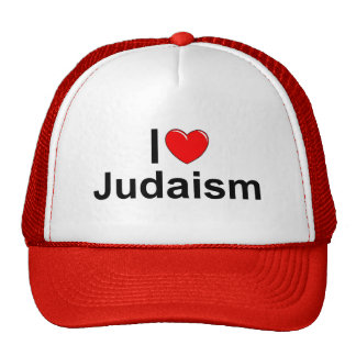 I Love (Heart) Judaism Mesh Hat