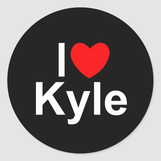 I Love (Heart) Kyle Classic Round Sticker