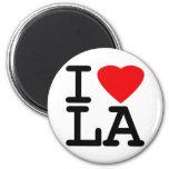 I Love Heart LA 6 Cm Round Magnet