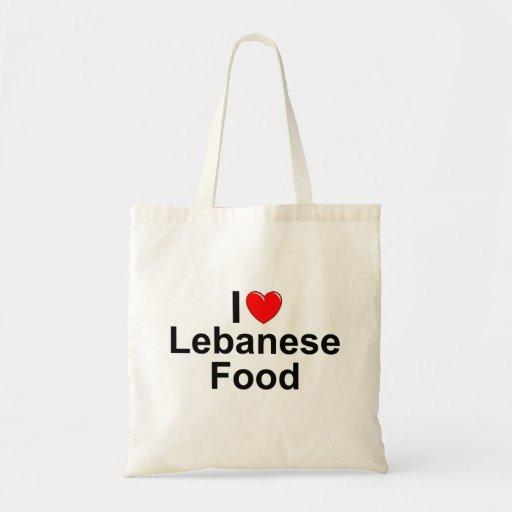 I Love (Heart) Lebanese Food Tote Bag