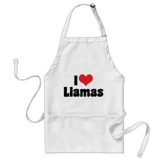 I Love Heart Llamas Standard Apron
