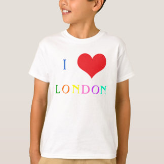 I love heart London colourful kids t-shirt