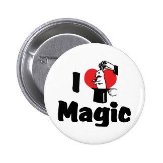 I Love Heart Magic - Magic Lover 6 Cm Round Badge