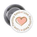 I Love Heart Marching Band - Customised Badge