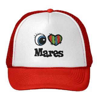 I Love Heart Mares Trucker Hats