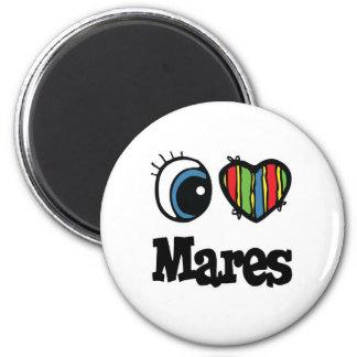 I Love Heart Mares Refrigerator Magnet