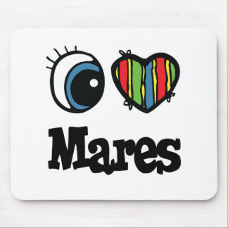 I Love Heart Mares Mouse Mats