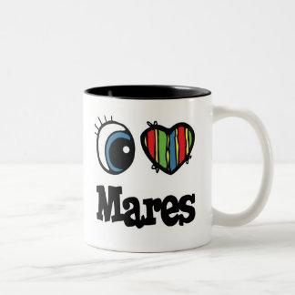 I Love Heart Mares Coffee Mug