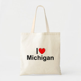 I Love (Heart) Michigan Tote Bag