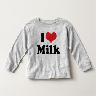 I Love Heart Milk - Cow Juice Dairy Lover Toddler T-Shirt