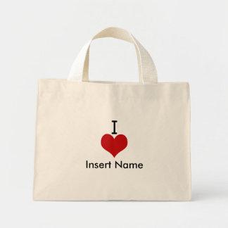 I Love (heart) Mini Tote Bag