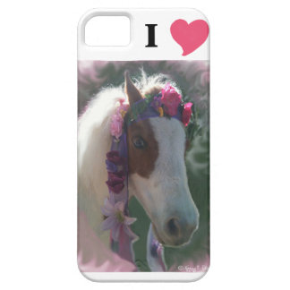 I Love(heart) miniature horse Cherry I-phone cover iPhone 5 Cases