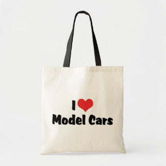 I Love Heart Model Cars - Model Car Builder Budget Tote Bag