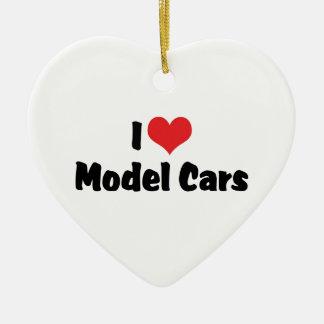 I Love Heart Model Cars - Model Car Builder Ceramic Heart Decoration