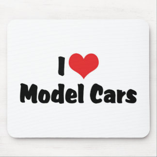 I Love Heart Model Cars - Model Car Builder Mouse Pad