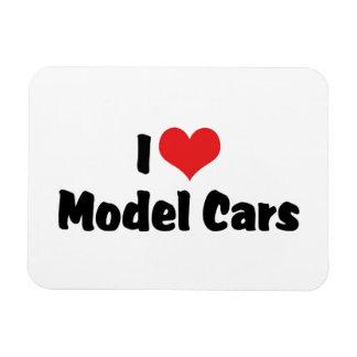 I Love Heart Model Cars - Model Car Builder Rectangular Photo Magnet
