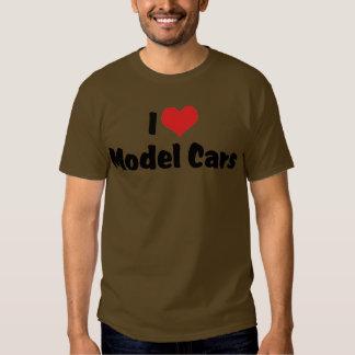 I Love Heart Model Cars - Model Car Builder T Shirt