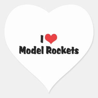 I Love Heart Model Rockets - Rocketry Lover Heart Sticker