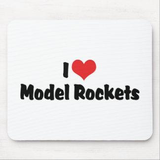 I Love Heart Model Rockets - Rocketry Lover Mouse Pad