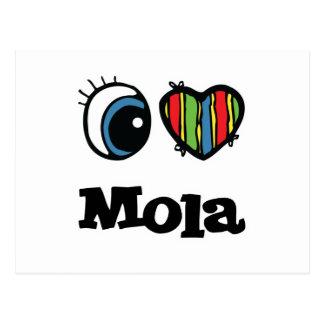 I Love (Heart) Mola Postcard