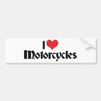 I Love Heart Motorcycles Bumper Sticker