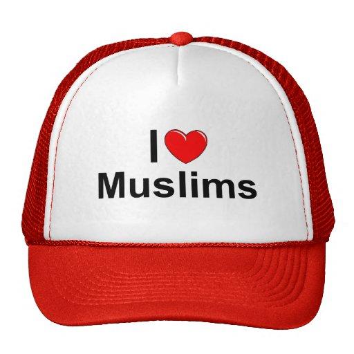 I Love (Heart) Muslims Mesh Hat
