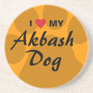 I Love (Heart) My Akbash Dog Coaster