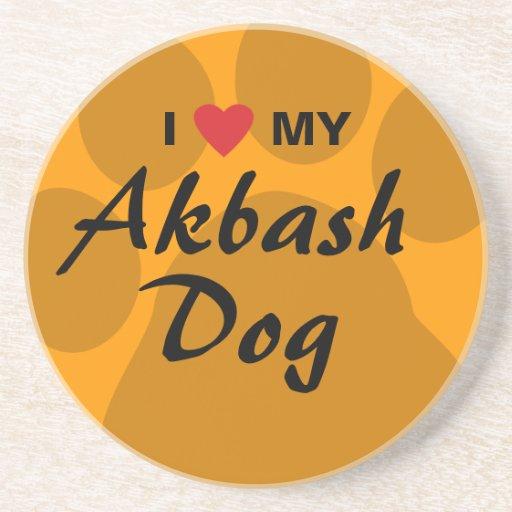 I Love (Heart) My Akbash Dog Coaster