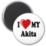 I Love (Heart) My Akita Dog Refrigerator Magnets