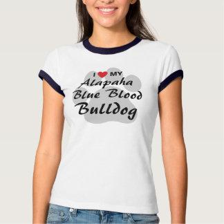 I Love (Heart) My Alapaha Blue Blood Bulldog Tshirt