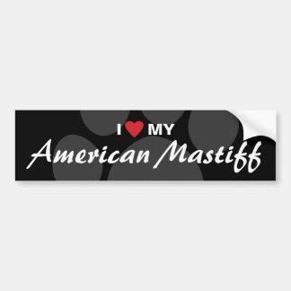 I Love (Heart) My American Mastiff Bumper Sticker