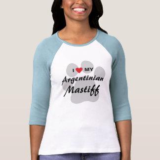 I Love (Heart) My Argentinian Mastiff Shirts