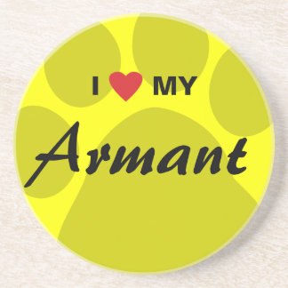I Love (Heart) My Armant Paw Print Drink Coasters