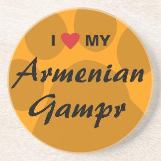 I Love (Heart) My Armenian Gampr Beverage Coasters