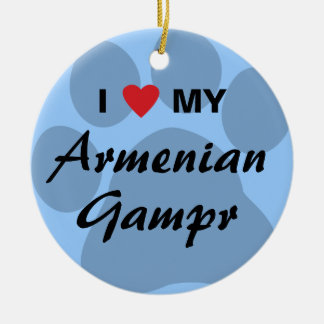 I Love (Heart) My Armenian Gampr Round Ceramic Decoration