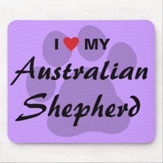 I Love (Heart) My Australian Shepherd Mouse Mat