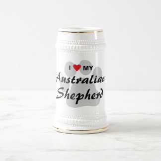 I Love (Heart) My Australian Shepherd Coffee Mugs