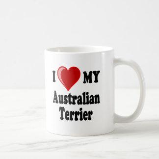 I Love (Heart) My Australian Terrier Dog Coffee Mug