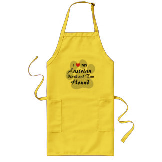 I Love (Heart) My Austrian Black and Tan Hound Long Apron